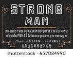 typeface vector strong man | Shutterstock .eps vector #657034990