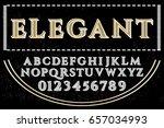 vintage font typeface vector...   Shutterstock .eps vector #657034993