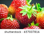 harvest of fresh organic... | Shutterstock . vector #657037816