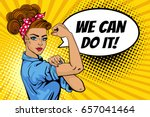 We Can Do It Poster. Pop Art...