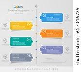 timeline infographics design... | Shutterstock .eps vector #657046789