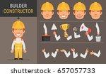 constructor character builder.... | Shutterstock .eps vector #657057733