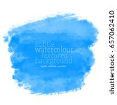 blue watercolor background | Shutterstock .eps vector #657062410