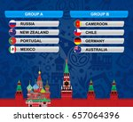 football cup. russia 2017. | Shutterstock .eps vector #657064396