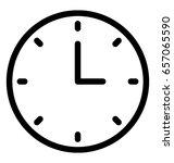 clock vector icon  | Shutterstock .eps vector #657065590