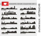 romantic skyline city... | Shutterstock .eps vector #657066148