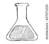 chemistry flask lab | Shutterstock .eps vector #657071233