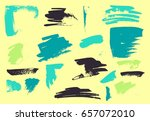 vector brush stroke. grunge ink ... | Shutterstock .eps vector #657072010
