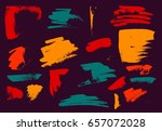 vector brush stroke. grunge ink ... | Shutterstock .eps vector #657072028