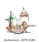 ramadan kareem iftar party... | Shutterstock .eps vector #657076180
