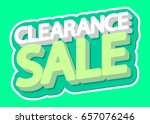 clearance sale  isolated... | Shutterstock .eps vector #657076246