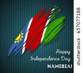 namibia independence day... | Shutterstock .eps vector #657077188