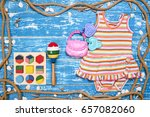 baby child summer stuff to the... | Shutterstock . vector #657082060