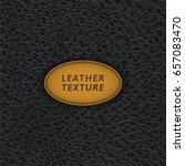 black leather texture. vector... | Shutterstock .eps vector #657083470