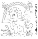 coloring book page. animals... | Shutterstock .eps vector #657083629