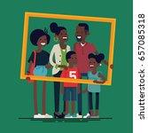 african family portrait. vector ... | Shutterstock .eps vector #657085318