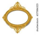oval vintage gold picture frame | Shutterstock .eps vector #657086323