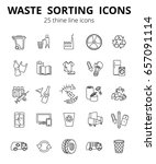 simple set of garbage  related... | Shutterstock .eps vector #657091114
