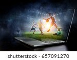 football hottest moments | Shutterstock . vector #657091270
