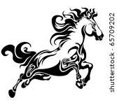 tribal horse | Shutterstock .eps vector #65709202