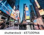 new york  usa   february 10 ... | Shutterstock . vector #657100966