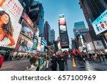 new york  usa   february 10 ... | Shutterstock . vector #657100969
