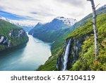 geiranger fjord. norway. | Shutterstock . vector #657104119