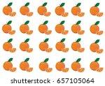 set of oranges on white... | Shutterstock .eps vector #657105064