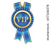 gold vip rosette badge with... | Shutterstock .eps vector #657106378