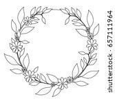 tropical flowers design | Shutterstock .eps vector #657111964