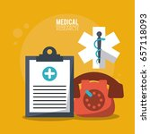 color poster medical research...   Shutterstock .eps vector #657118093