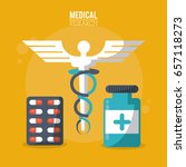 color poster medical research...   Shutterstock .eps vector #657118273
