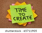 creativity concept   time to... | Shutterstock . vector #65711905