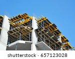 building construction site work ... | Shutterstock . vector #657123028