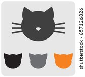 Stock vector cat head colored icons 657126826