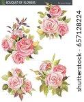 vector element set with bouquet ...   Shutterstock .eps vector #657128224