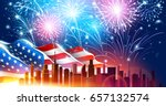 colorful fireworks for... | Shutterstock .eps vector #657132574