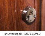 door lock in apartment | Shutterstock . vector #657136960