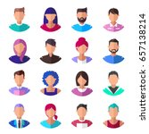 people. set of modern icons | Shutterstock .eps vector #657138214