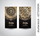 set of modern business card...   Shutterstock .eps vector #657143434