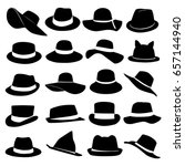 hats illustration. collection... | Shutterstock .eps vector #657144940