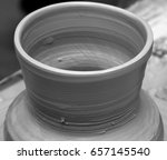 black and white view on process ... | Shutterstock . vector #657145540