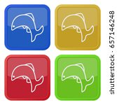 set of four square colored... | Shutterstock .eps vector #657146248