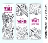 wines and gourmet snacks banner ... | Shutterstock .eps vector #657146824