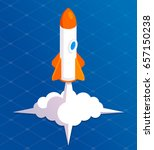 rocket illustration start ... | Shutterstock .eps vector #657150238