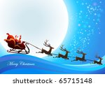santa claus  is coming to town | Shutterstock .eps vector #65715148