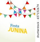 invitation for festa junina... | Shutterstock .eps vector #657152674