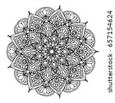 mandalas for coloring book.... | Shutterstock .eps vector #657154624