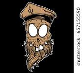 skull character   Shutterstock .eps vector #657155590