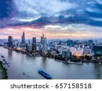ho chi minh city  aerial view   ... | Shutterstock . vector #657158518